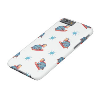 Vintage Christmas Pattern, Child Sledding in Snow Barely There iPhone 6 Case