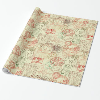 Vintage Christmas Pattern Gift Wrap