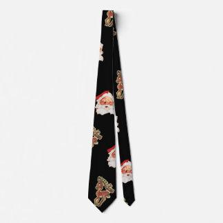 Vintage Christmas Pattern, Santa Claus Neck Tie