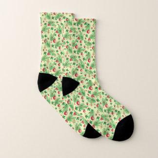 Vintage Christmas Pattern Socks
