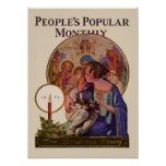 Vintage Christmas People's Popular Monthly 1923 Posters