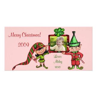 Vintage Christmas Photo Card