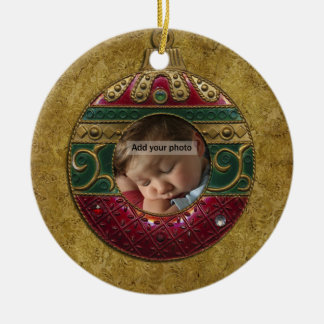 Vintage Christmas Photo Ornament