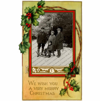 Vintage Christmas Photo Sculpture Magnet