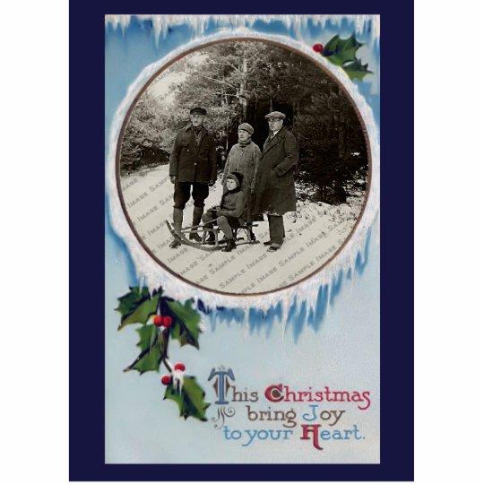 Vintage Christmas Photo Sculpture Magnet