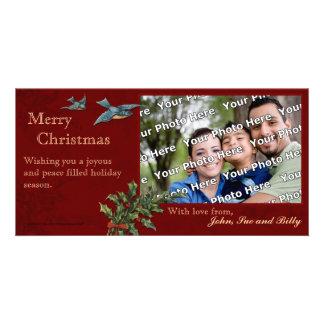 Vintage Christmas Photocard Customized Photo Card