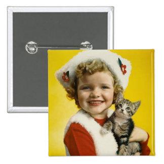 Vintage : Christmas - Pinback Button