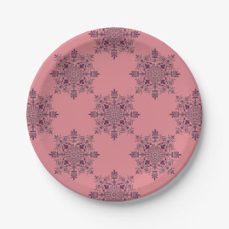 Vintage Christmas Pink Victorian Paper Plates
