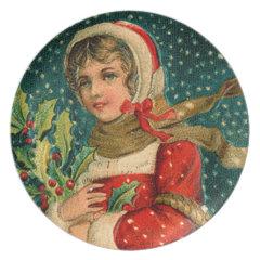 vintage christmas plate
