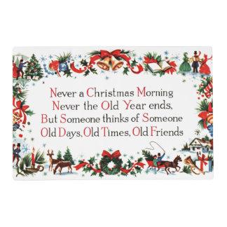 Vintage Christmas Poem Placemat