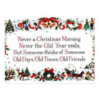Vintage Christmas Poem Postcard
