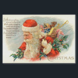 "Vintage Christmas poem Santa Holiday party tissue Tissue Paper<br><div class=""desc"">design by www.etsy.com/Shop/VanityFlairDesigns</div>"
