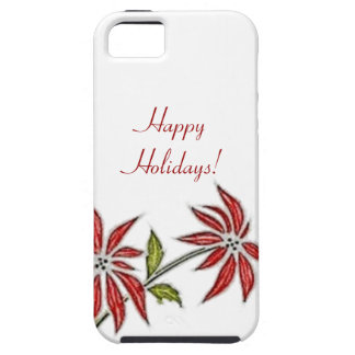 Vintage Christmas Poinsettia iPhone 5 Case