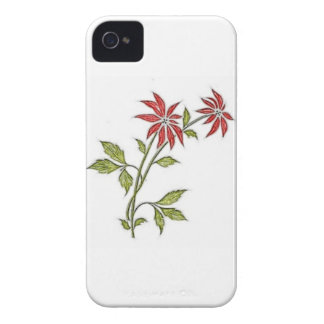 Vintage Christmas Poinsettia iPhone 4 Cases