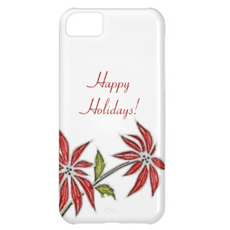 Vintage Christmas Poinsettia iPhone 5C Cover