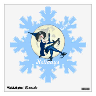 Vintage Christmas Police Wall Sticker