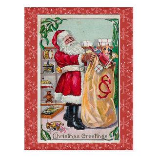 Vintage Christmas Postacrd Postcard