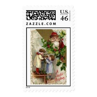 Vintage Christmas Postage Stamp
