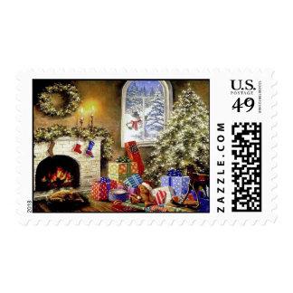 Vintage Christmas postal stamp U.S postage