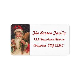 Vintage Christmas Postcard Image (Reproduction) Label