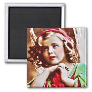 Vintage Christmas Praying Angel Magnet