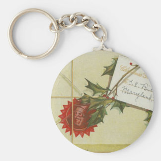 Vintage Christmas Present Key Chains