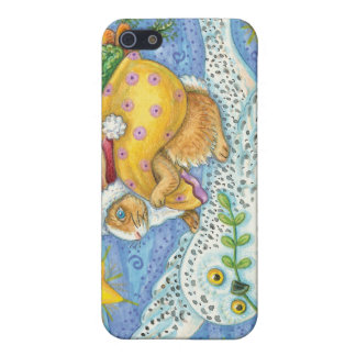 Vintage Christmas Rabbit and Owl iPhone 4 Case