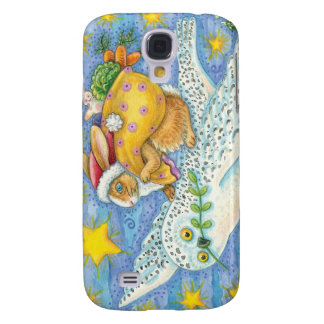 Vintage Christmas Rabbit and Owl iPhone Case Galaxy S4 Cover