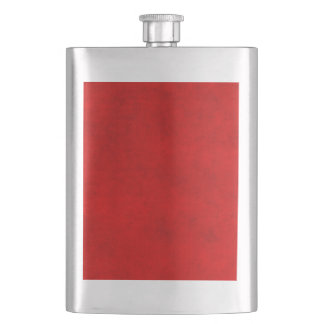 Vintage Christmas Red Parchment Personalized Flask