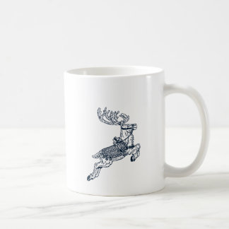 Vintage christmas reindeer classic white coffee mug