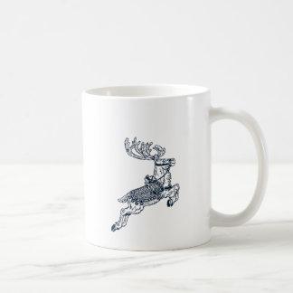 Vintage christmas reindeer mug