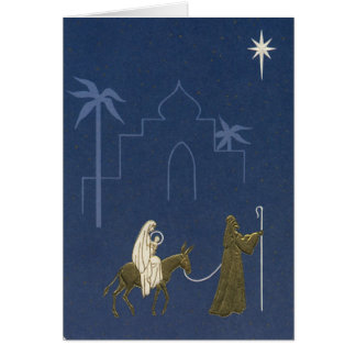 Vintage Christmas Religious Mary And Joseph Greeting Cards