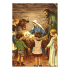Vintage Christmas, Religious Nativity Invitation