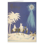 Vintage Christmas Religious Three Wise Men Greeting Card