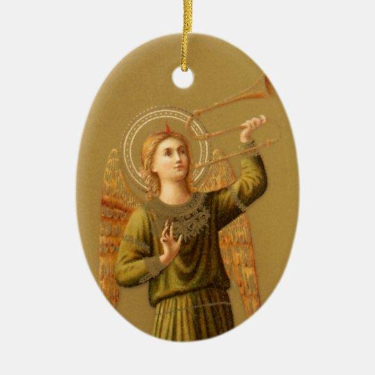 Vintage Christmas Renaissance Angel Ceramic Ornament