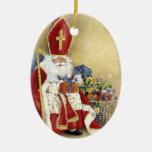 Vintage Christmas Saint Nicholas Santa Claus Christmas Tree Ornaments