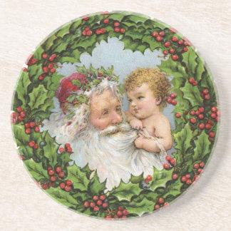 Vintage Christmas Sandstone Coaster