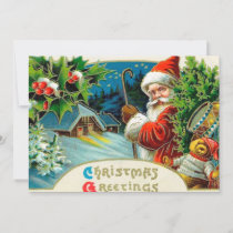 Vintage Christmas Santa add message card