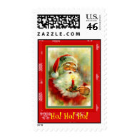 Vintage Christmas Santa & Candle Postage