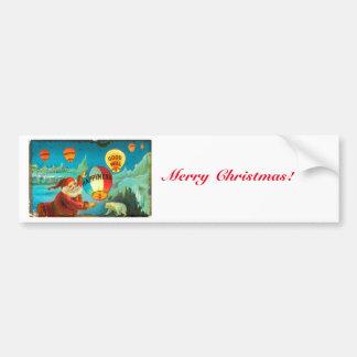 Vintage Christmas Santa Car Bumper Sticker