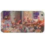 Vintage Christmas, Santa Claus and Elves Workshop Barely There iPhone 6 Plus Case