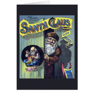 Vintage Christmas, Santa Claus and His Works Stationery Note Card