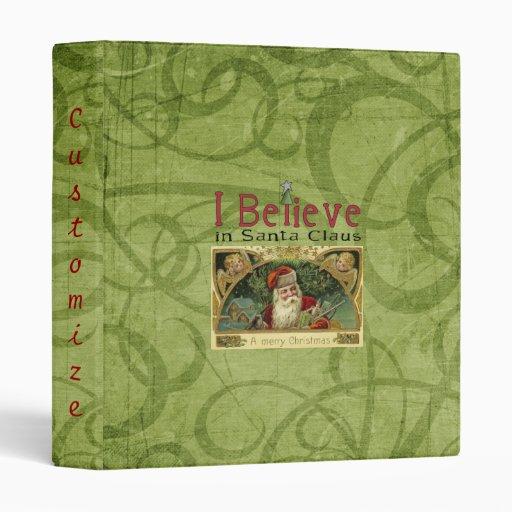 Vintage Christmas Santa Claus Angels Notebook Binder