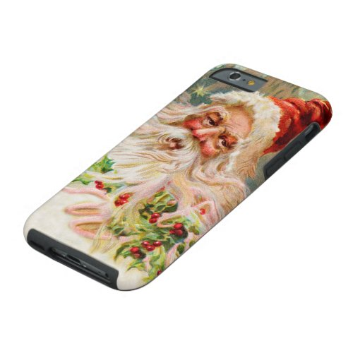 Vintage Christmas Santa Claus Art Tough iPhone 6 Case