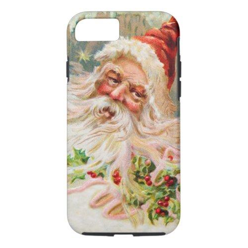 Vintage Christmas Santa Claus Art iPhone 87 Case