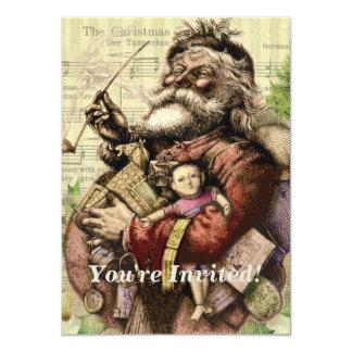 Vintage Christmas Santa Claus Art Print Card