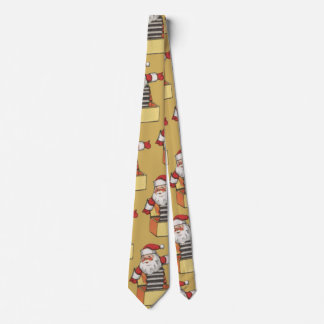 Vintage Christmas, Santa Claus as Jack in the Box Neck Tie