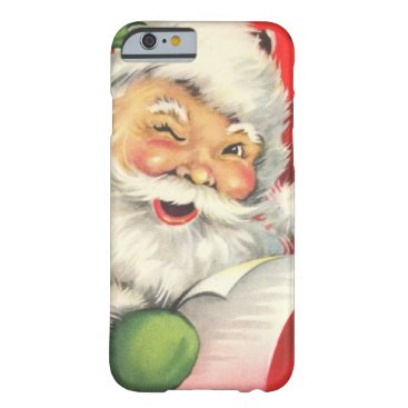 Christmas Themed Vintage Christmas Santa Claus Barely There iPhone 6 Case