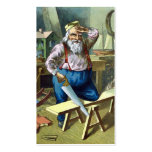 Vintage Christmas, Santa Claus Building Toys Double-Sided Standard Business Cards (Pack Of 100)