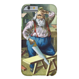 Vintage Christmas, Santa Claus Building Toys Barely There iPhone 6 Case